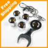 Car tire valve caps 4pcs + wrench key chain for Porche(FD-CAP-Porsche)