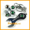 Car tire valve caps 4pcs + wrench key chain for Skoda(FD-CAP-Skoda)