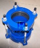 Ductile cast iron universal couplings for PVC pipe