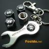 HYUNDAI logo car tire valve caps 4pcs +wrench key chain(FD-CAP-HYUNDAI)