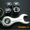 KIA logo car tire valve caps 4pcs +wrench key chain(FD-CAP-KIA)