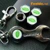 LANDROVER logo car tire valve caps 4pcs +wrench key chain(FD-CAP-LANDROVER)