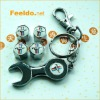 MUSTANG logo car tire valve caps 4pcs +wrench key chain(FD-CAP-MUSTANG)
