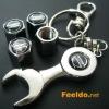 NISSAN logo car tire valve caps 4pcs +wrench key chain(FD-CAP-LEXUS)