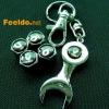RENAULT logo car tire valve caps 4pcs +wrench key chain(FD-CAP-RENAULT)