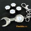 VOLVO logo car tire valve caps 4pcs +wrench key chain(FD-CAP-VOLVO)
