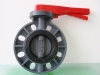 Water PVC Plastic Butterfly Valve Lever Type