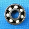 white ZrO2 hybrid ceramic deep groove ball bearings with high speed